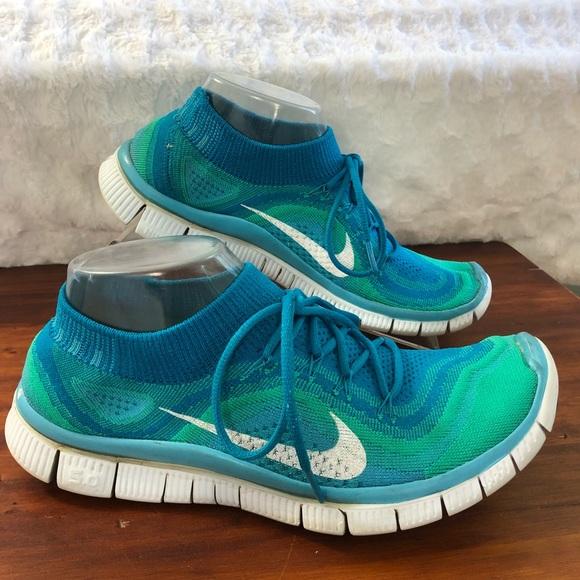 dd04ec2466d9 Nike Free 5.0 Flyknit Blue Tint Running Shoes 10. M 5b21c41003087caa708da4e4